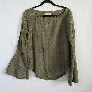 Anthropologie Cloth & Stone Olive Green Tunic Top